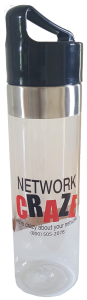 Network Craze Water Bottle: While on the go, keep your Network Craze Water Bottle close