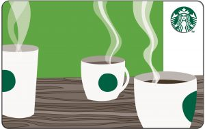 Starbucks Gift Card: Enjoy a couple of cups of coffee on us