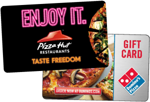 $100 Gift Card to Dominos or Pizza Hut: Treat your team to a pizza lunch from Pizza Hut or Dominoes