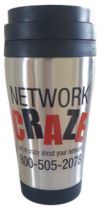 Network Craze Travel Mug: Stainless Steel Travel mug to keep your drinks hot or cold