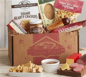 Taste of Vermont: Enjoy the flavors of Vermont from Daikin Farms: Honey Ham Sausage, Hand-Waxed Sharp Vermont Cheddar, Honey 'n Spice Mustard, Maple Fudge and more