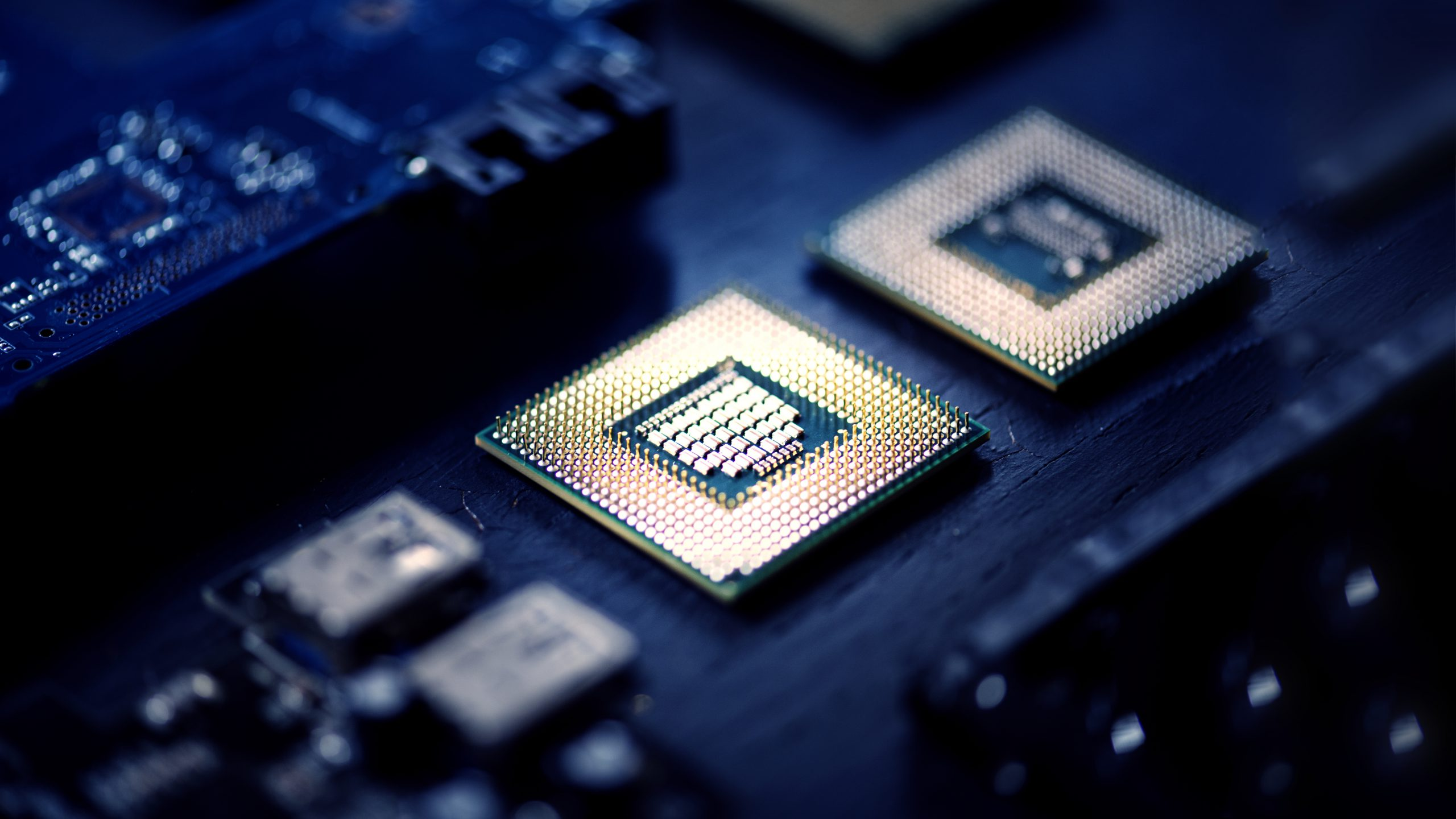 Computer Chips On A Processor